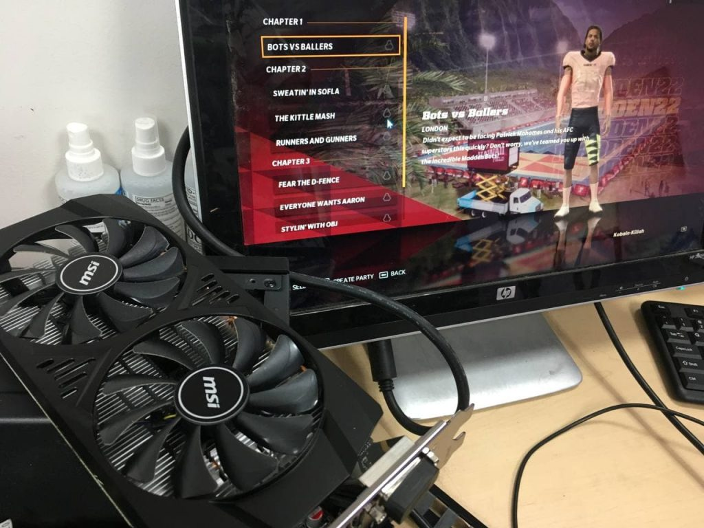 gaming pc graphics card failure